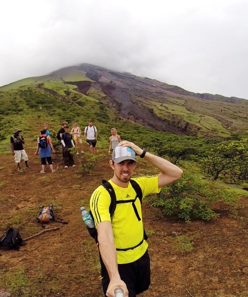 Rory Gibbons Selfie Stick Next To A Volcano